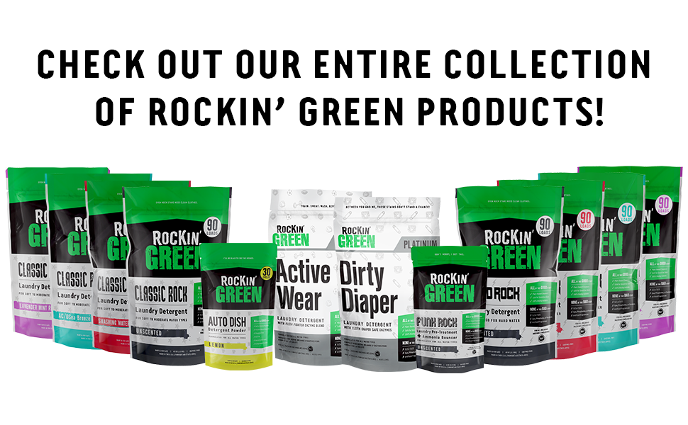 Rockin green laundry detergent powder