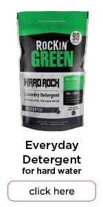 rockin green hard rock natural laundry detergent powder