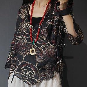 535dee7317 YESNO E63 Women Casual Loose Plaid Blouse Button-Down Shirts 'A ...
