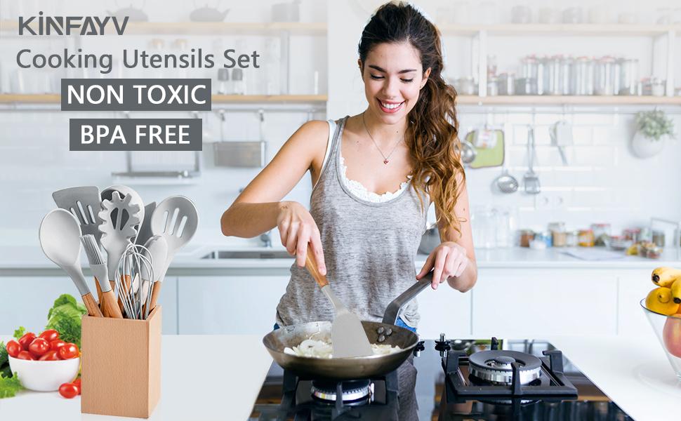 cooking utensils set kitchen utensils set silicone cooking utensils cooking utensils