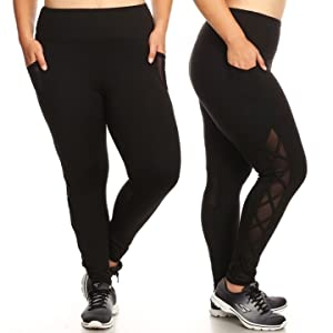 Plus Size Capris, plus size Yoga leggings,pocket leggings plus,Capri Yoga bottoms,plus size biker