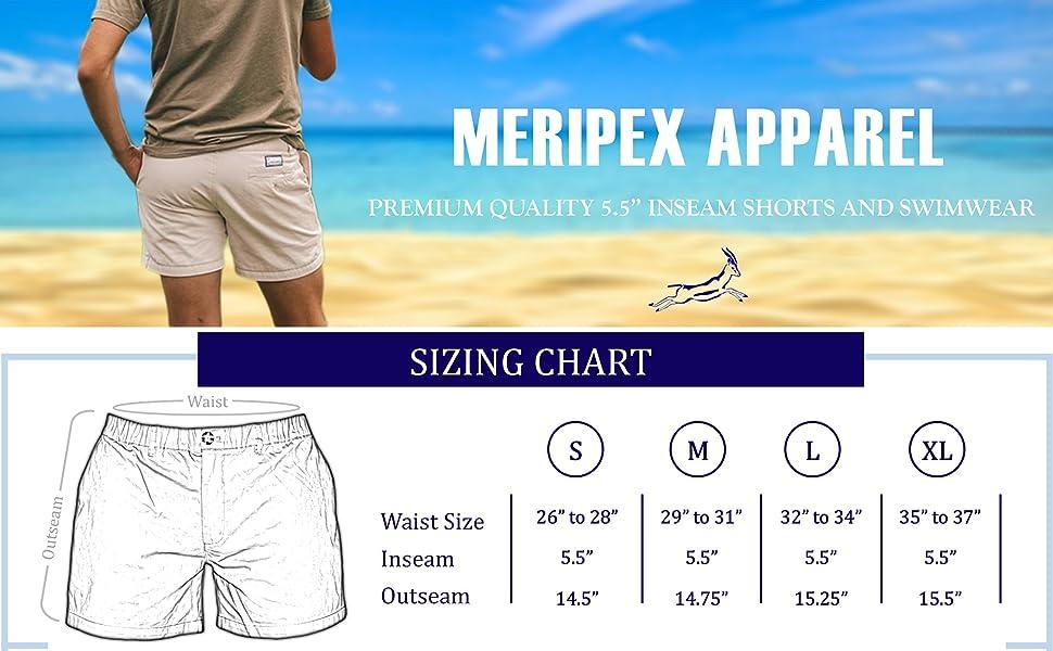 20b08bab54 Meripex Apparel Men's Shorts: Jet Back · Meripex Apparel Men's Swim Trunks:  The Bohemians · 4-Way Stretch - Meripex Apparel Men's Shorts: Original  Khaki ...