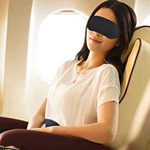 Amariver Eye Mask Shade Cover 20 Pack Blindfold Travel Sleep Mask Night Sleeping Cover With Nose Pad Light Guide Relax Cover Black