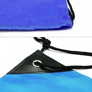 2d118e6b7fc8 Amariver 6 Pieces Drawstring Backpack Drawstring Bag Cinch Nap Sack Tote  Bags For Kids Adults Gym Sport Beach Travel Picnic