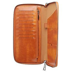 Cave Man Landscape Leather Passport Holder Cover Case Travel One Pocket
