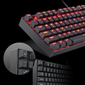 Redragon K551 Mechanical Gaming Keyboard with Cherry MX Blue Switches Vara  104 Keys Numpad Tactile USB Wired Computer Keyboard Steel Construction for