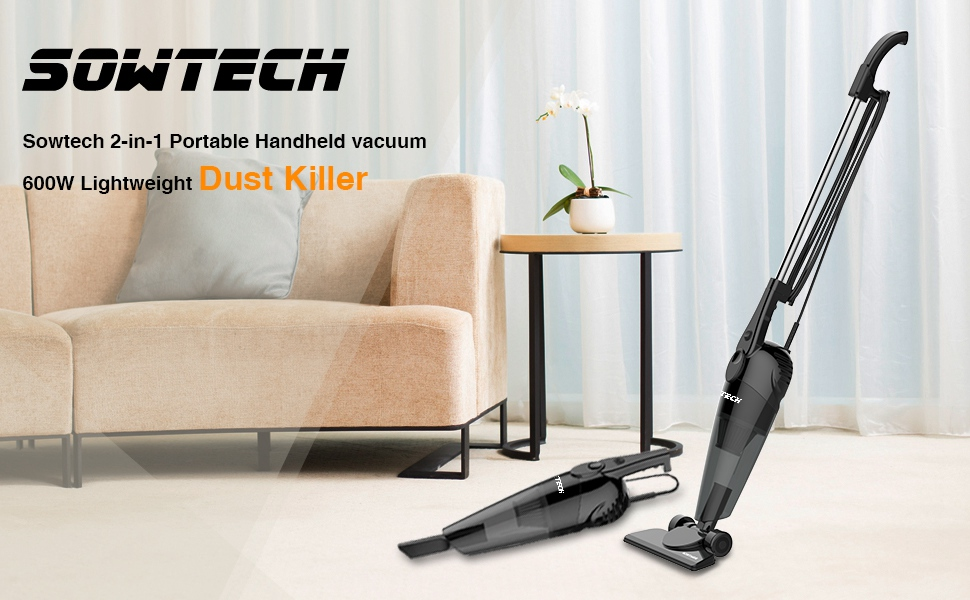 Sowtech Powered Long Lasting Suction With Upright Vacuum