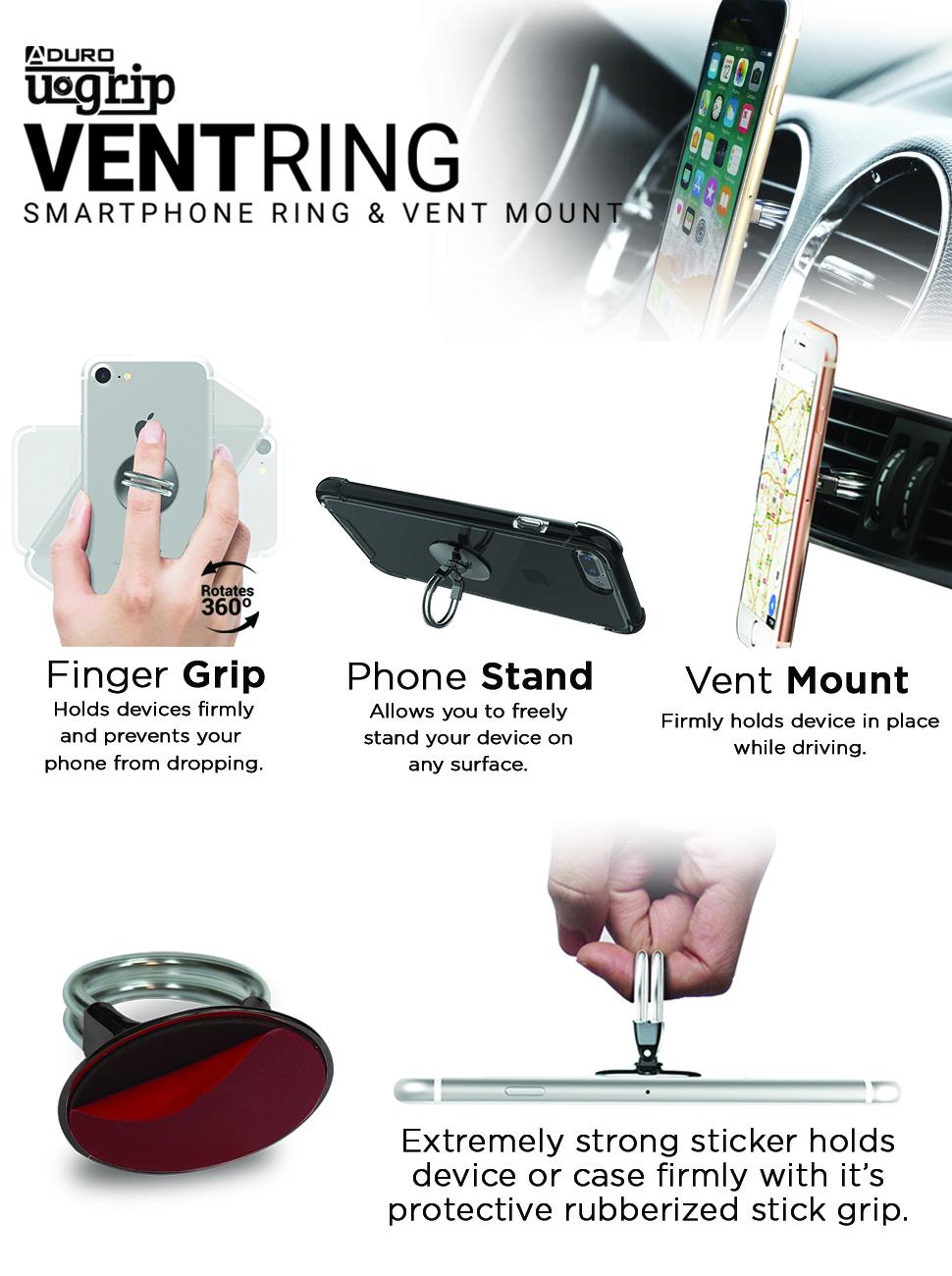 car vent phone ring mount
