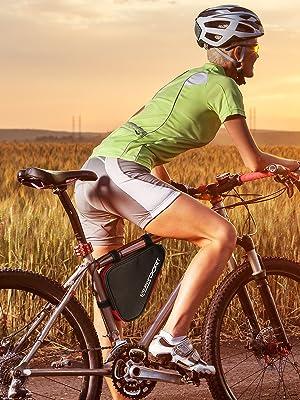 bike bag sunset