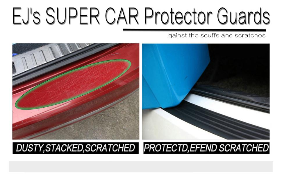 2 Pcs Black Auto Car Bumper Pads Adhesive PVC Rubber Universal Protector Guards