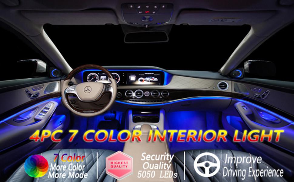 Car LED Strip Light Car Interior ... & Cool car atmosphere light u2013 holidali.com