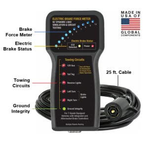 amazon com electric brake force meter with dynamic load simulation rh amazon com check trailer brake wiring ram check trailer brake wiring ram