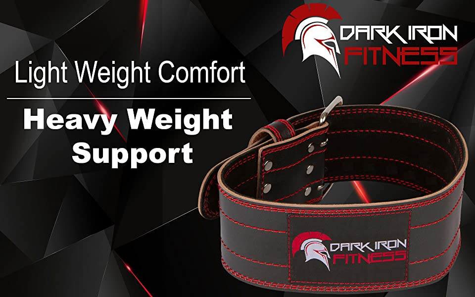The Original Genuine Leather Weight Lifting Belt by Dark Iron Fitness