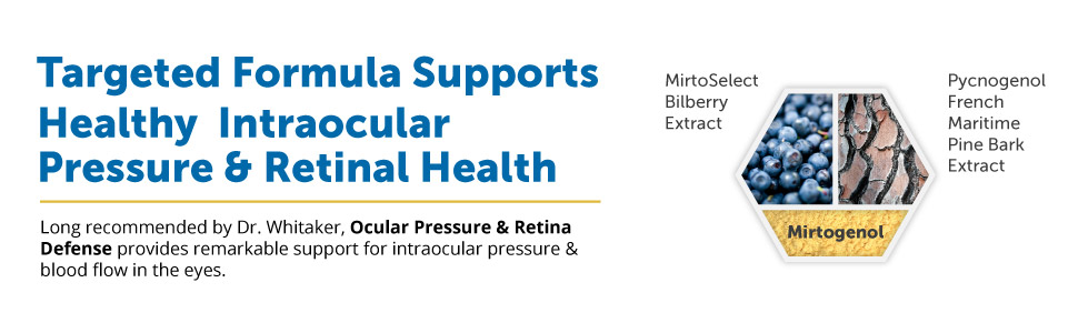 Targeted Formula Supports Healthy  Intraocular Pressure & Retinal Health