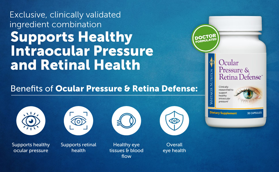 Supports Healthy Intraocular Pressure and Retinal Health