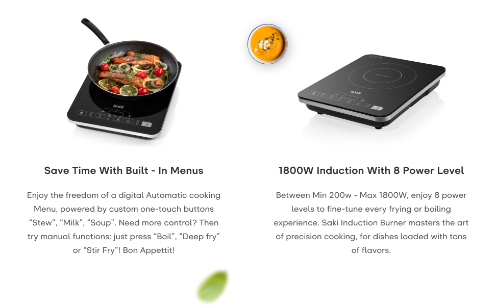 Amazon.com: Saki Induction Cooker – 1800W Portátil Inducción ...