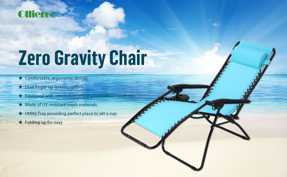 Super Ollieroo 2 Pack Blue Zero Gravity Lounge Chair With Pillow And Utility Tray Adjustable Folding Recliner Outdoor Patio Chair Lamtechconsult Wood Chair Design Ideas Lamtechconsultcom