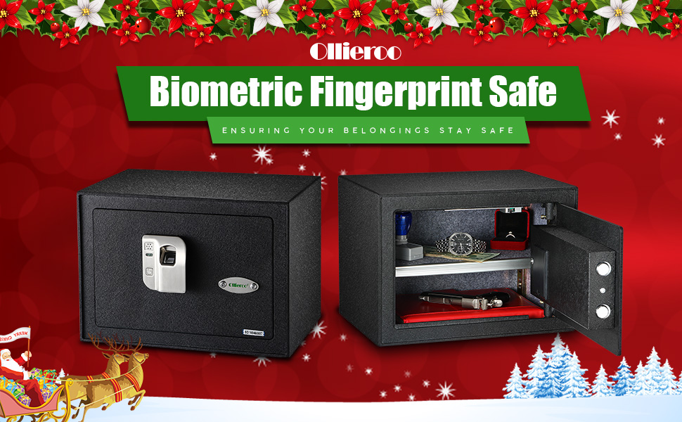 ollieroo fingerprint safe is prefect for you to store your money jewelry small pistols and valuables at home or in the office