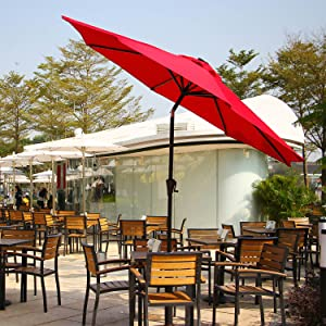 Ollieroo 32 LED Lighted Patio Umbrella Unique And Innovative Advantages: