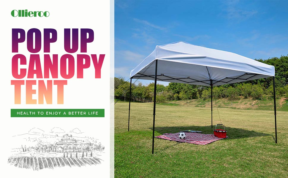 ollieroo 10 x 10 feet outdoor pop up portable shade instant folding canopy. Black Bedroom Furniture Sets. Home Design Ideas