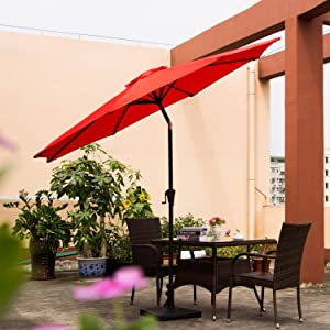 Designed To Provide Maximum Shade, Ollieroo Patio Umbrella Is Terrific To  Have On A Sunny Day And Makes A Restful And Unique Vibrant Style In Your  Outdoor ...