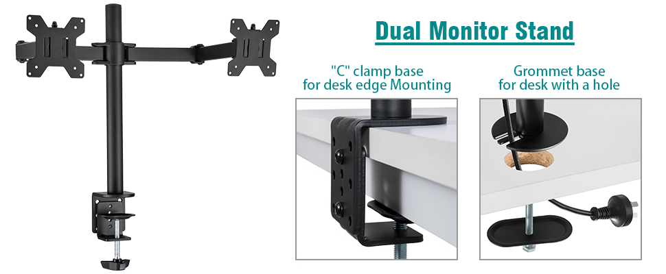 Amazon Com Ollieroo Dual Lcd Led Monitor Desk Mount Stand