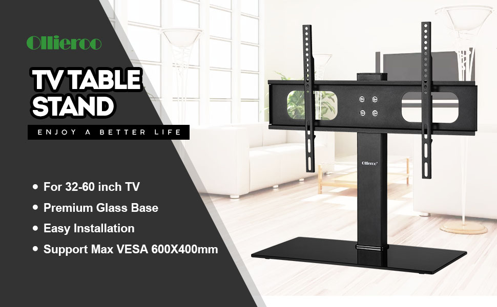 Amazon Com Ollieroo Table Top Tv Stand For Most 32 60