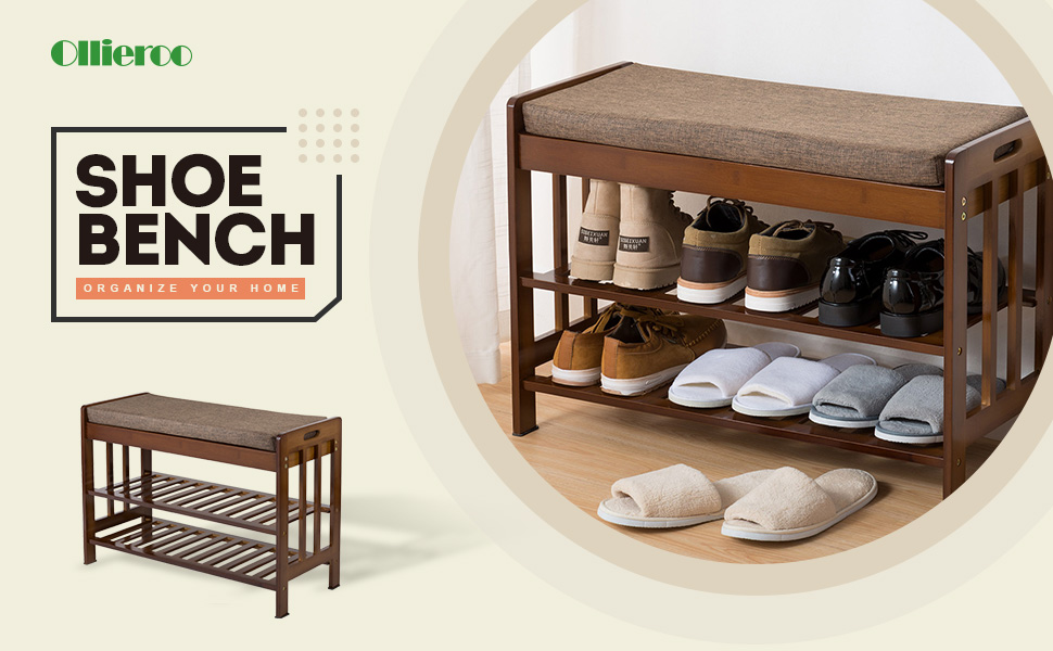 the lightweight and compact designed shoe organizer is great for closets or small entryways