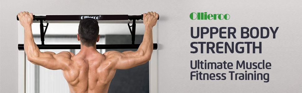 4a848dca08a4 Amazon.com : Ollieroo Pull Up Bar Doorway Chin Up Strength Training ...