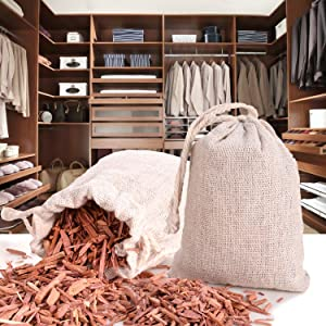 Cedar closet hanger