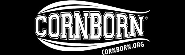 CornBorn Logo - White on Black