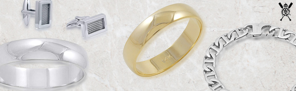 141c5a8cf24f4 Men's 14K Yellow Gold 5mm Traditional Plain Wedding Band (Available Ring  Sizes 8-12 1/2)