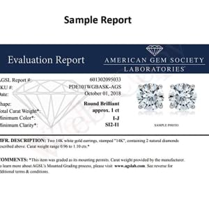 AGS Sample Certificate