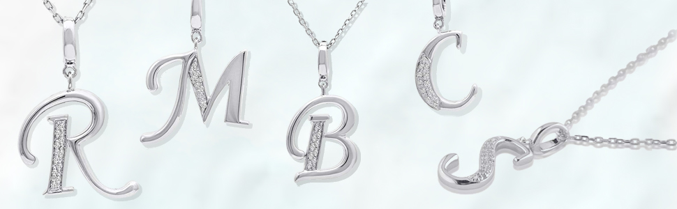 Details about  /925 Silver Diamond CK /& KS Letter Monogram Pendant Valentine/'s Day Gift Jewelry