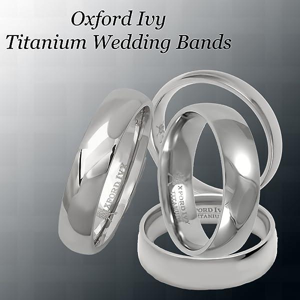 Oxford Ivy 6mm Mens Comfort Fit Titanium Plain Wedding Band
