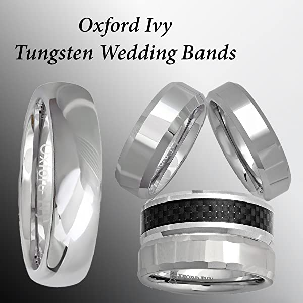5mm Mens Plain Comfort Fit Tungsten Wedding Band Available Ring
