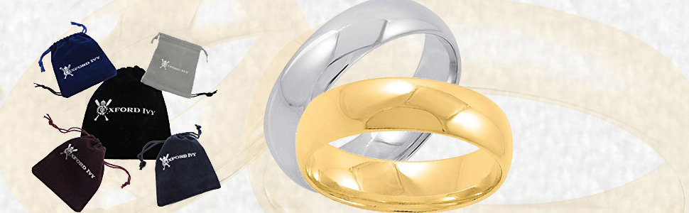 Men's 14K White Gold 6mm Comfort Fit Plain Wedding Band (Available Ring Sizes 8-12 1/2)