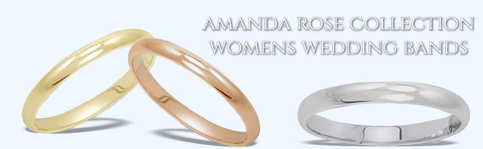 Women's 14K White Gold 2mm Classic Fit Plain Wedding Band (Available Ring Sizes 4-8 1/2)