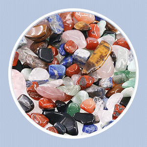 tumbled chips stones