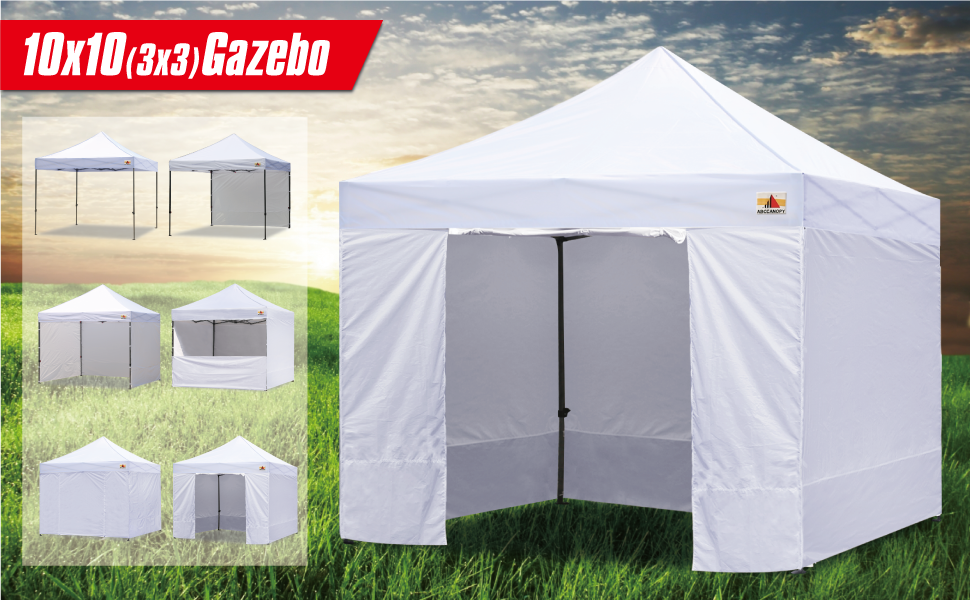 Amazon.com : AbcCanopy White 10 X 10 Ez Pop up Canopy
