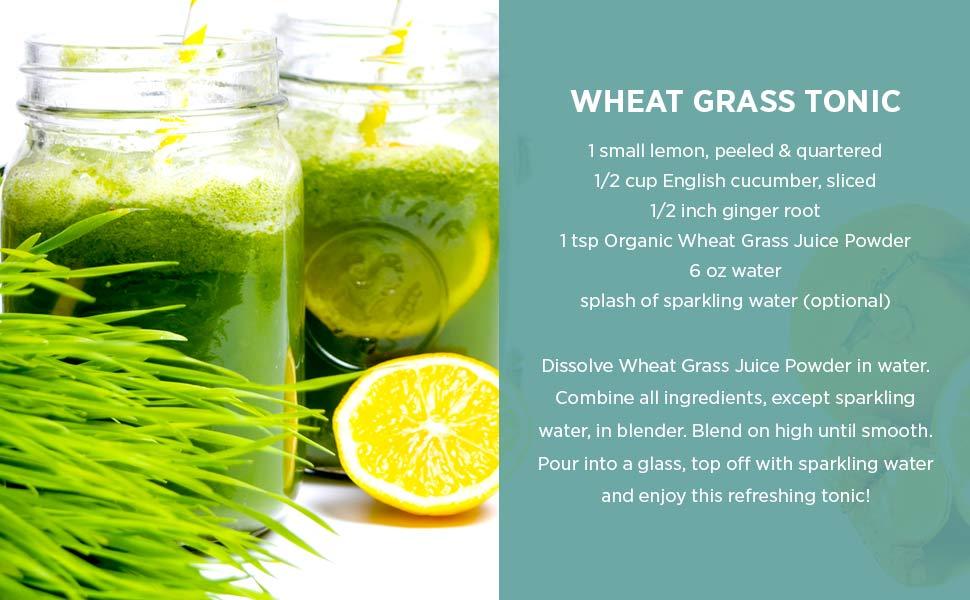 wheat grass tonic recipe