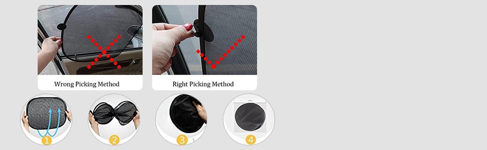 IC ICLOVER Foldable Sunshade Remove INstruction