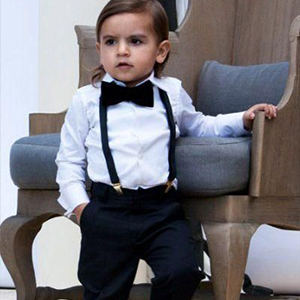 6cbe05e64c646 Yilaku Baby Boys Clothes Sets Bow Ties Shirts + Suspenders Pants Toddler  Boy Gentleman Outfits Suits(0-4 Years)