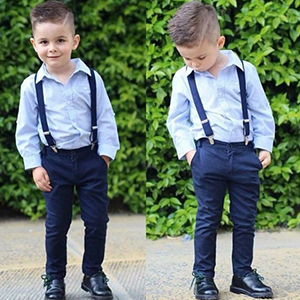 036c19064 Long Sleeve Shirt Gentleman Suspender Pants Clothing Overalls Romper  Jumpsuit Clothes Toddler Outfit