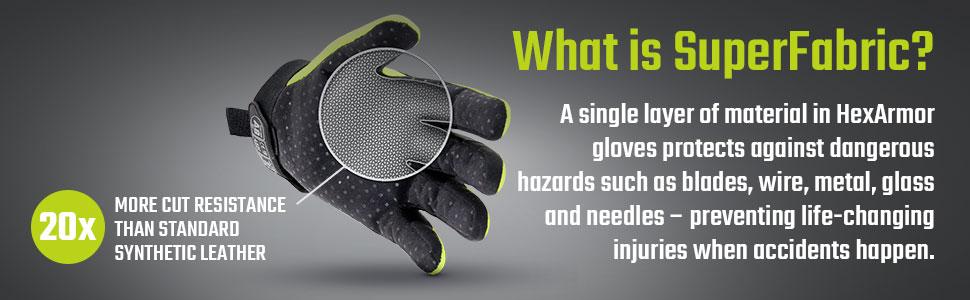 hexarmor high cut resistance superfabric material