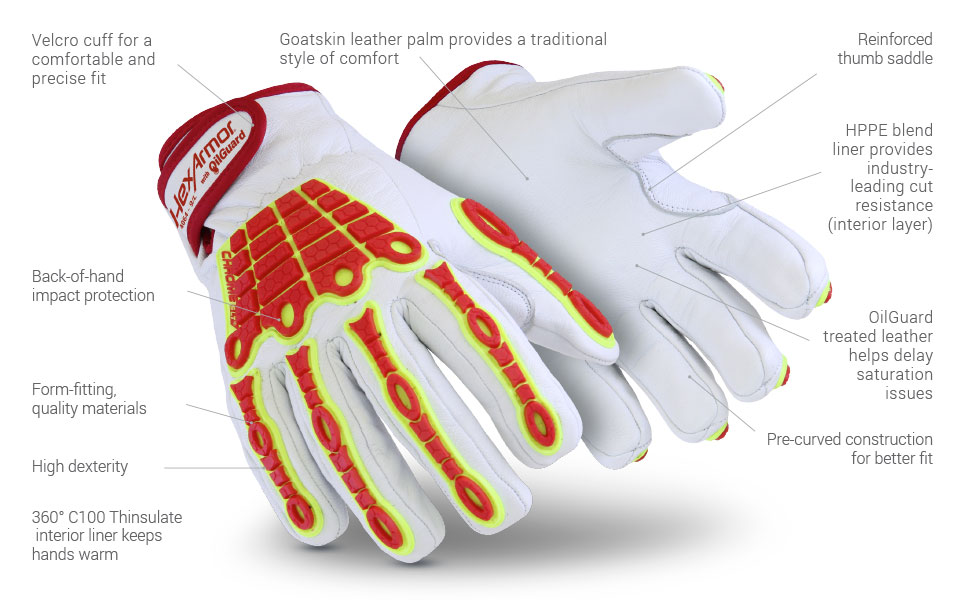 chrome SLT 4064 cold weather glove features