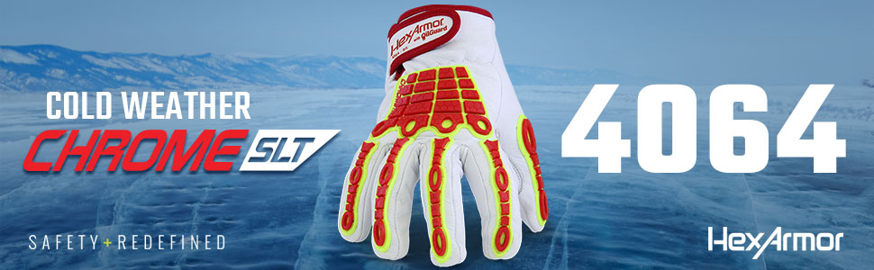 hexarmor chrome SLT 4064 leather impact cold weather gloves