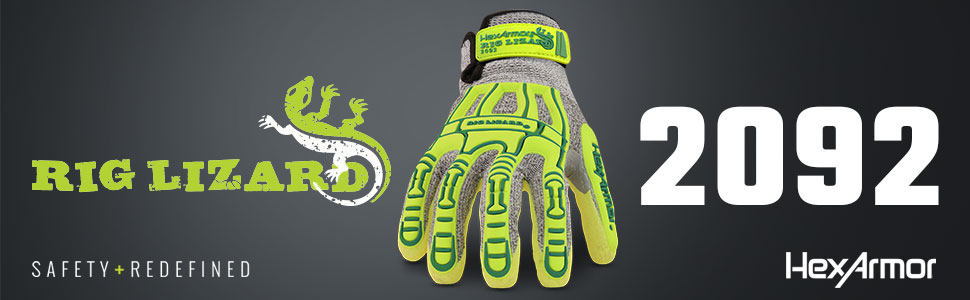hexarmor rig lizard 2092 seamless knit glove with impact protection