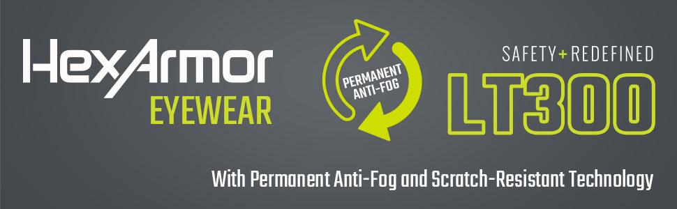 hexarmor LT300 anti-fog goggles