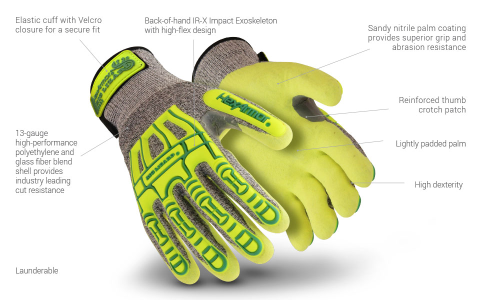 rig lizard 2092 glove features
